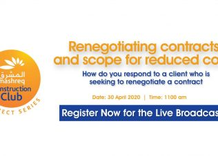 Live Broadcast: Renegotiating construction contracts