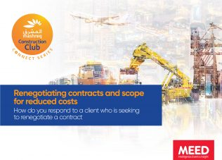 CONNECT SERIES: Renegotiating construction contracts